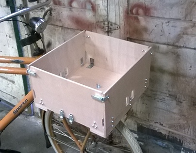 Foldable bike crate