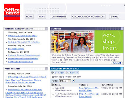 Office Depot Corporate Intranet