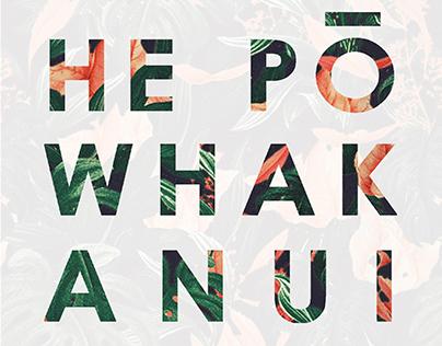 He Pō Whakanui Poster // Graduate Show