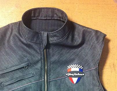 Rider's Outpost Lined-Denim Moto-vest