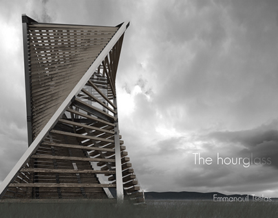 The hourglass in Morecambe Bay, Lancaster, UK