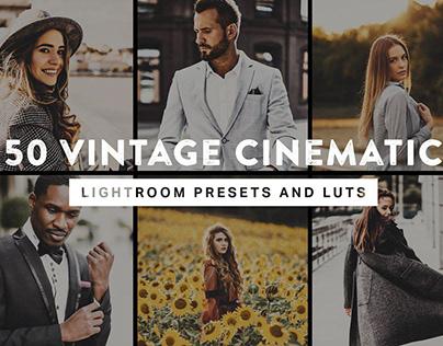 50 Vintage Cinematic Presets &LUTs