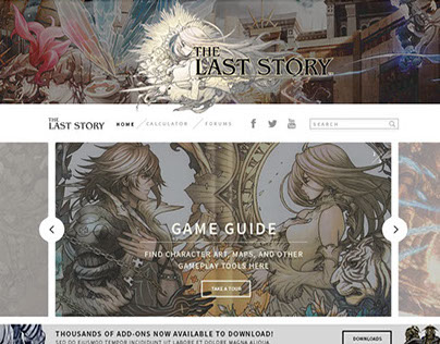Last Story Game Website