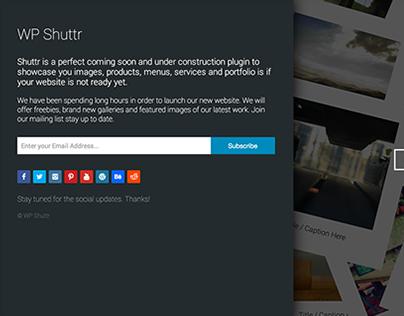 WP Shuttr - Wordpress Coming Soon | Maintenance Plugin