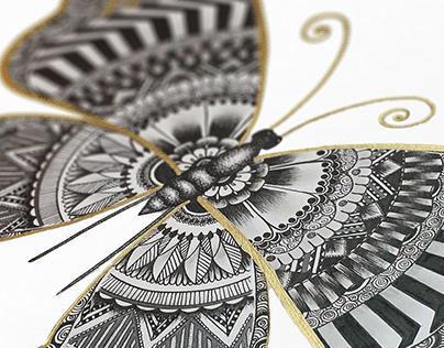 Butterfly mandala