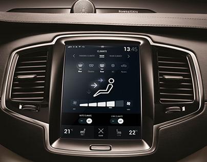 Sensus XC90 Volvo dashboard