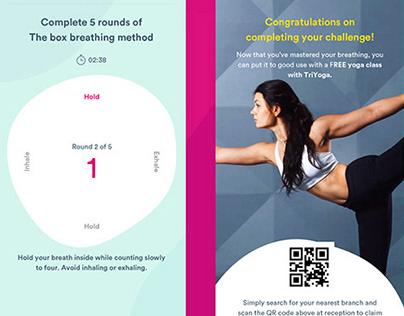 YuLife App - Meditation challenge UI / UX flow.