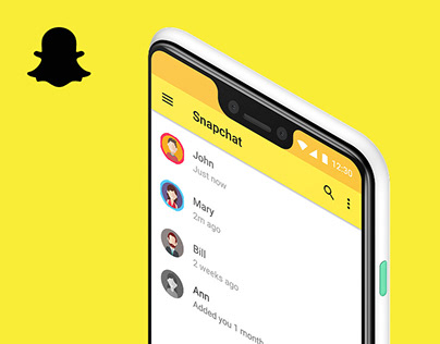 Snapchat for Android – User Interface Redesign