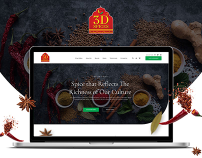 3D Spices - Website & UIUX Design Project