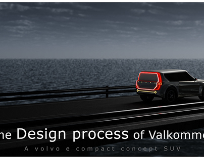 Exterior design project of a electric compact SUV