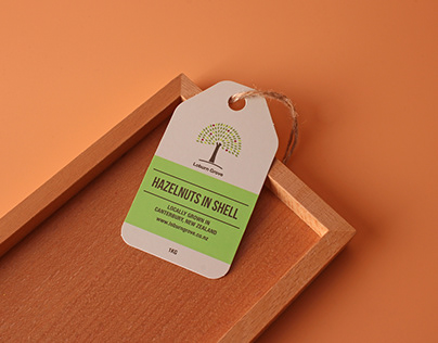 hazelnuts in shell custom shape swing tags