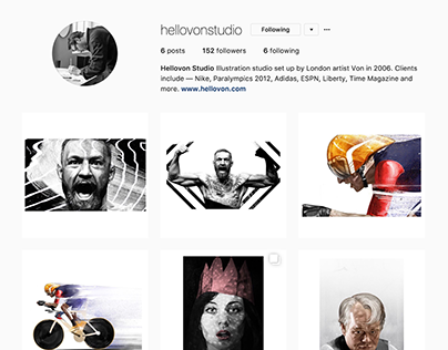 New HelloVon Studio Instagram account