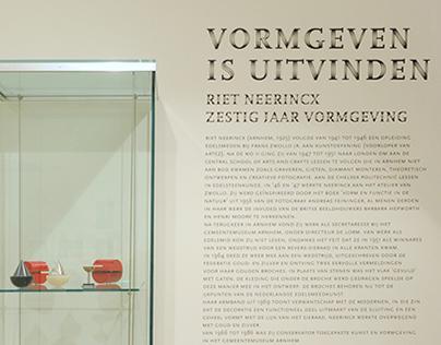 Zaalbeletteringen Museum voor Moderne Kunst Arnhem