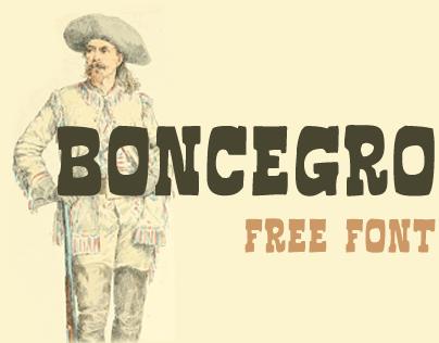 Boncegro FF (Free Typeface)