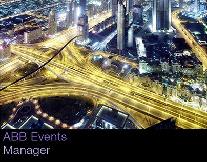ABB Events Manager App