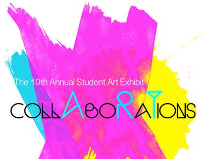 Collaborations Art Show Poster Design