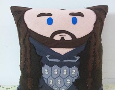 Handmade The Hobbit Thorin Oakenshield Plush Pillow