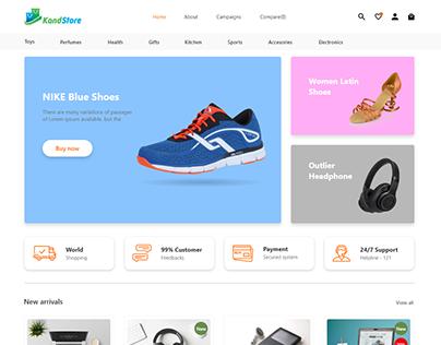 UI/UX E-commerce Webdesign for Kandstore LLC