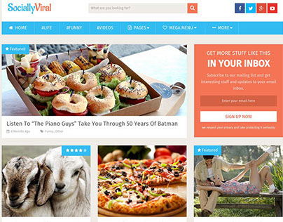 Socially Viral WordPress Theme blog News | Download