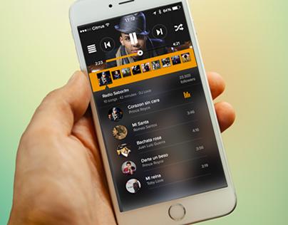 iOS Radio App Mobile .sketch