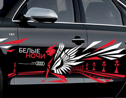 Car stickers for Audi