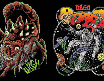 Urgh skateboarding t-shirt designs
