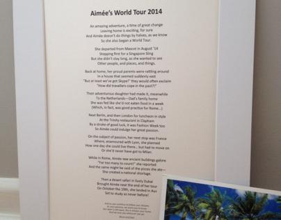 Bespoke poem for a globetrotter