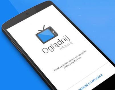 Oglądnij reklamę - Material Design App for Android
