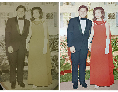 Restoration and colorisation of a faded photograph