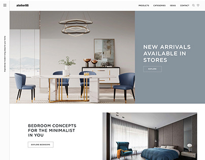 Atelier86 Website Design