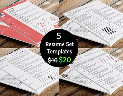 50% Off on Resume Template Bundle