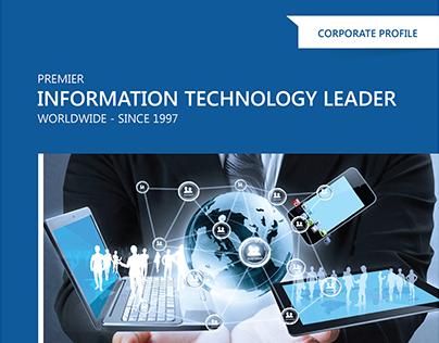 Corporate profile brochure design for Openwave.