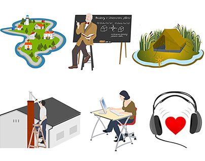 Illustrations for E-courses