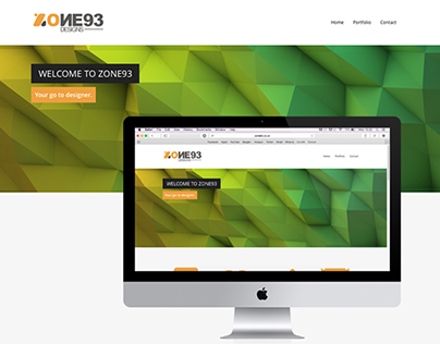 zone93 web design on behance