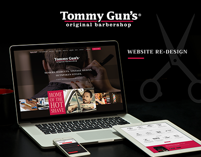Tommy Gun's Website Re-Design