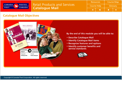 Canada Post online courseware