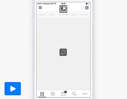 Minimal Search Animation