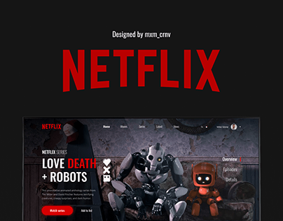 Redesign-concept for Netflix landing page
