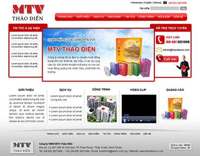 THAO DIEN web layout
