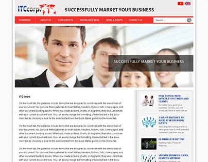 IT Corp web layout