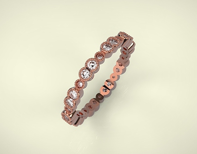 Lovely Pink and Diamonds Ring