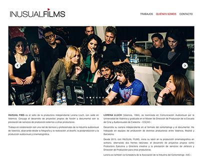 Inusual Films – Web Design