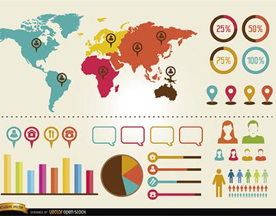 Free Vectors: Infographics Elements