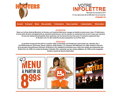 INFOLETTRE HOOTERS