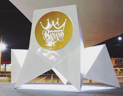 Reina Mundial del Banano. Logo Stand