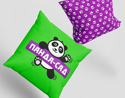 Логотип и фирменный стиль Панда-Сад