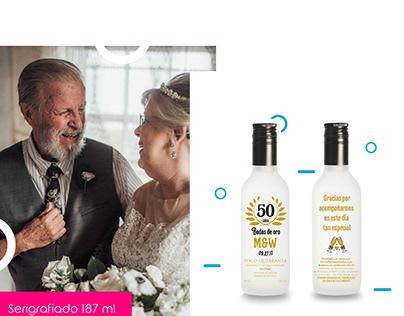 Recuerdos personalizados de bodas de oro