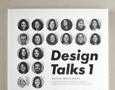 Design Talks 1 - German University (book design)