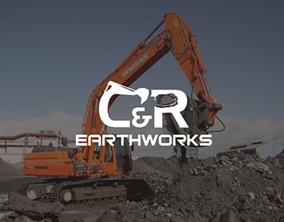 Logo Design for C&R Earthworks (Brand Identity)