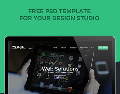 Design Studio website (Free PSD)